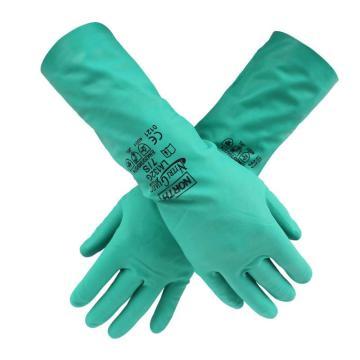 霍尼韦尔Honeywell 丁腈防化手套,LA132G/8,NitriGuard 绿色,12副/打