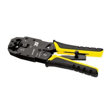 高档三用网络端子钳,带棘轮,BS433683