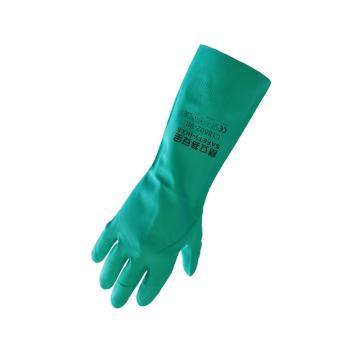 赛立特 L18502-8 植棉衬里,丁腈钻石纹防化手套,33cm