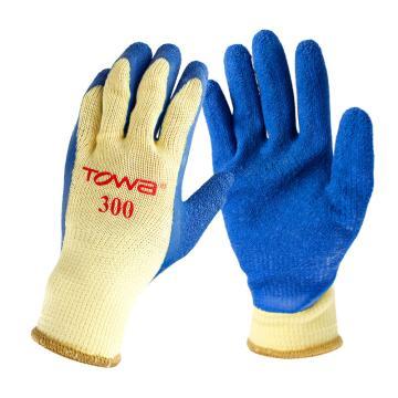 TOWA NO.300 天然橡胶手套,(内衬)棉,聚酯