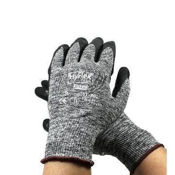 安思尔Ansell 丁腈涂层手套,11801090,掌部涂发泡丁腈 灰色尼龙衬里