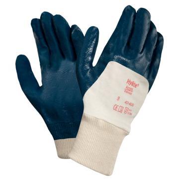 Ansell 47-400-9 掌面涂腈胶针织涂层手套