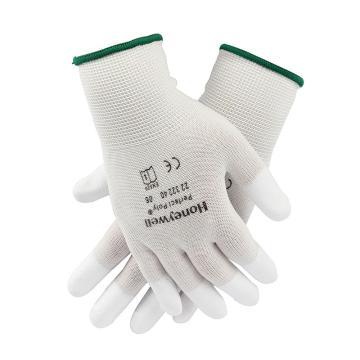 霍尼韦尔 2232240CN-8 尼龙指浸PU涂层手套,白色