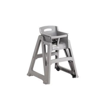 特耐適(Trust)抗菌兒童餐椅,需自行組裝,不帶腳輪,8014 白金色