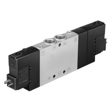 费斯托FESTO 三位五通单电控电磁阀,常闭,中位阀,不含线圈,CPE18-M1H-5/3G-1/4,170247