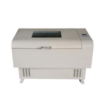 博迅 卧式摇床,小容量,恒温带制冷,往复振荡式,控温范围:0~60℃,BSD-WF2200
