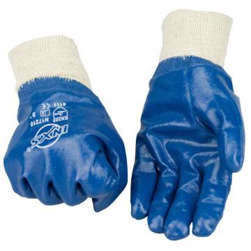 赛立特 N17210-9 针织绒衬里,手掌蓝色丁腈涂层全浸,罗口手套
