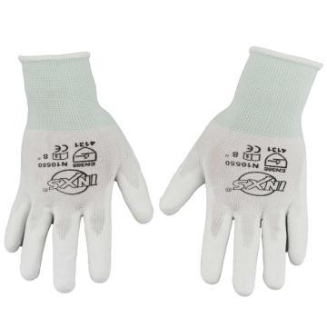 赛立特 PU涂层手套,N10550-7,13针白色复合丝针织手套 手掌浸