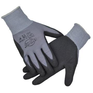 赛立特 N10530-8 13针灰色尼龙针织手套,手掌浸黑色磨砂丁腈