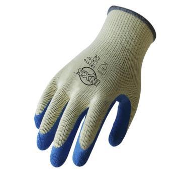 赛立特 L22110-8 10针涤棉针织内胆,手掌浸蓝色乳胶手套