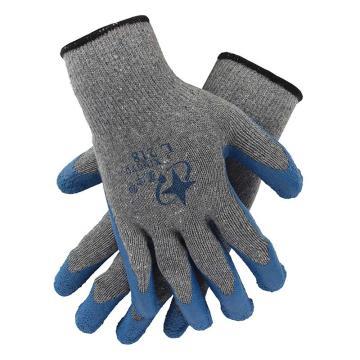 星宇 乳胶涂层手套,L218-灰纱兰,2股乳胶皱纹涂层手套