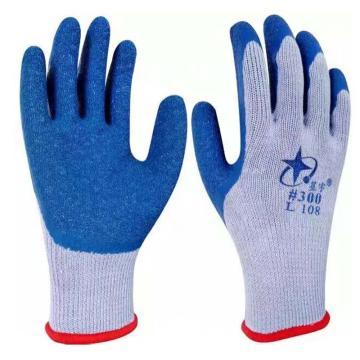 星宇 乳胶涂层手套,L108-灰纱兰,乳胶皱纹涂层手套
