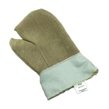 JUTEC 隔热手套,H2110030,2指900℃耐高温玻璃纤维布手套