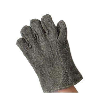 JUTEC 隔热手套,H125B130,5指650℃耐高温芳纶混合织物布手套