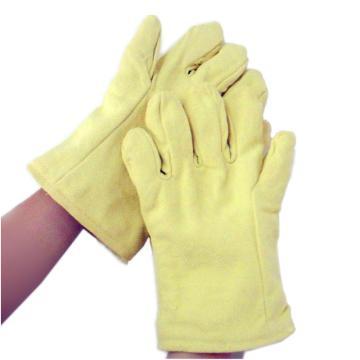 JUTEC 隔热手套,H115B130,5指500℃耐高温芳纶布手套