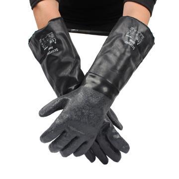 Ansell 19-024(S)-8 氯丁橡胶防水隔热手套,460mm