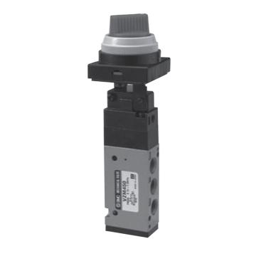 SMC 机械阀,旋钮(2位),VZM450-01-34R