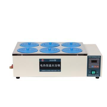博迅电热恒温水浴锅,HH.S21-6,控温范围:RT+5~100℃,内部尺寸:500x310x120mm