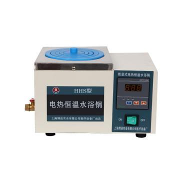 博迅电热恒温水浴锅,HH.S11-1,控温范围:RT+5~100℃,内部尺寸:170x170x120mm