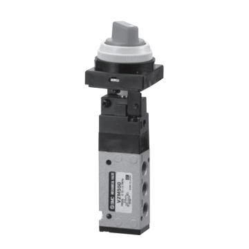 SMC 机械阀,旋钮(2位),VZM550-01-34G