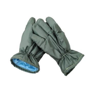 富力G327W,无尘耐高温手套,耐温300~350℃,军绿色,35cm