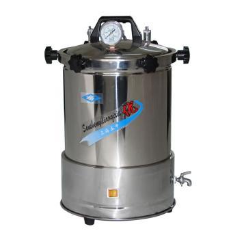 手提式不锈钢压力蒸汽灭菌器(防干烧),YX-280A座式电热,18L,三申