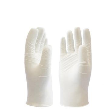 代尔塔DELTAPLUS 有粉一次性手套,201372-9,一次性带粉乳胶手套,100只/盒