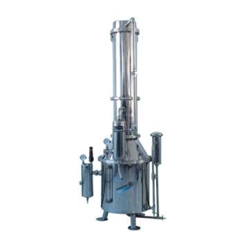 不锈钢塔式蒸汽重蒸馏水器,50升/时,TZ50,三申