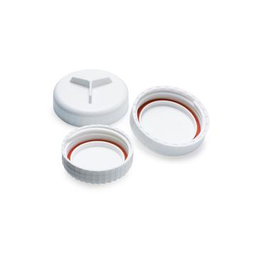 NALGENE密封盖,Oak Ridge式,聚丙烯螺旋盖,硅胶垫圈,适合盖尺寸20mm