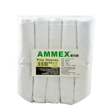 爱马斯AMMEX 防化袖套,PSLEEVE-WC,白色PE袖套,100个/袋