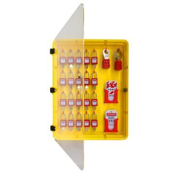 二十锁锁具站,标配20把挂锁,6把六联锁具,24张警示吊牌,467*75*621.5mm,S61B