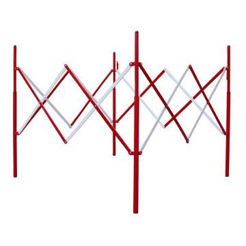 迈邦 伸缩围护隔离栏 全铁材质 收缩W150×H1150mm 展开W1300×W1300×H850mm B4R,红/白