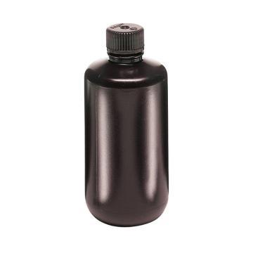 棕色窄口瓶,500ml,HDPE