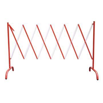 迈邦 伸缩隔离栏 全铁材质 高1050mm 长度范围150-2500mm B2S,红/白