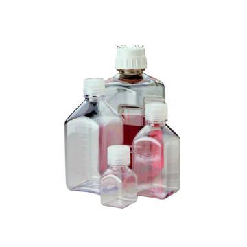 方形瓶,聚碳酸酯;聚丙烯螺旋盖,125ml容量