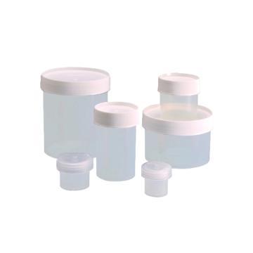 直身广口罐,聚丙烯,白色聚丙烯螺旋盖,250ml