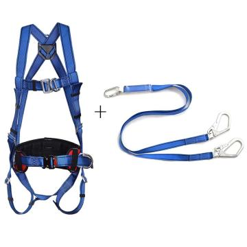 羿科 安全带套装,60816718+60816720,带护腰安全带+双头缓冲带套装PN02+PN3611