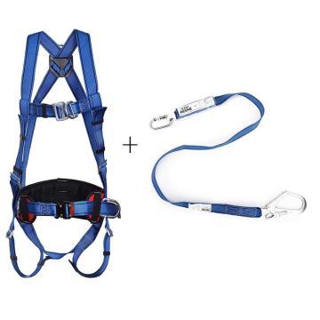 羿科 安全带套装,60816718+60816719,带护腰安全带+单头缓冲带套装PN02+PN3281