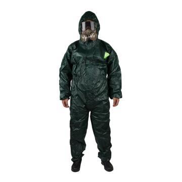 微护佳 MC4000绿色双袖连体防化服,XXL,GR40-T-99-111-06