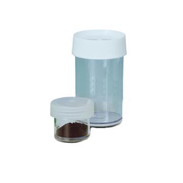 NALGENE直身广口罐,透明聚碳酸酯,带白色PP盖,60ml