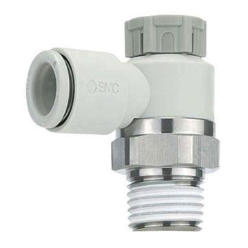 "SMC 彎頭調速閥,排氣節流,帶密封劑,R1/4"",接管10mm,AS2201F-02-10SA"