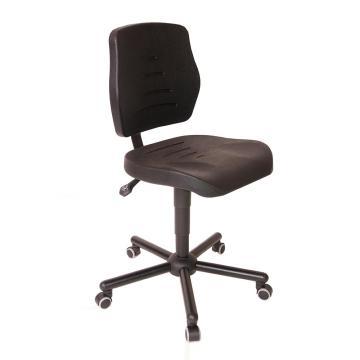 MEY工作椅, 黑色 高度调幅495-640mm 带刹车的硬地脚轮(散件不含安装)