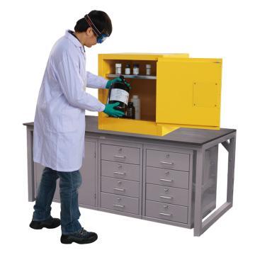 西斯贝尔SYSBEL 易燃液体安全柜,CE认证,10加仑/38升,黄色/手动,不含接地线,WA810100