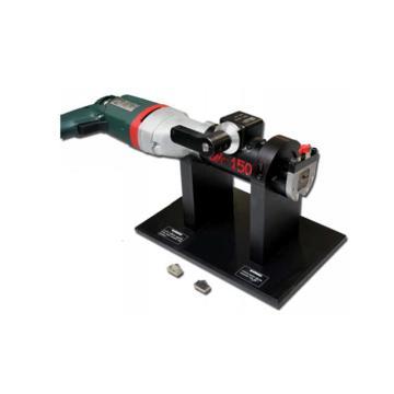 端面平口機,TSM-1501M ,外加緊/插座式電鉆,蝸輪蝸桿驅動,適用于超厚壁管子加工
