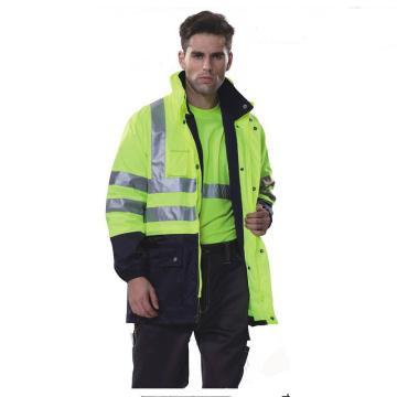 安大叔B008高密度防水涂层牛津布防寒服,黄拼蓝,尺码:XXXXL