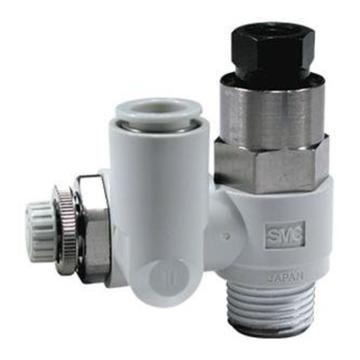 SMC 速度控制阀,ASP带先导式单向阀,ASP530F-03-10S