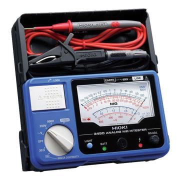 日置/HIOKI 指針式絕緣電阻表,250V/500V/1000V 3490