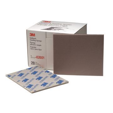 3M海绵砂纸块,型号:02601/06893,800#-1000#,蓝色,114*139mm,ultrafine,6盒(120片)/箱