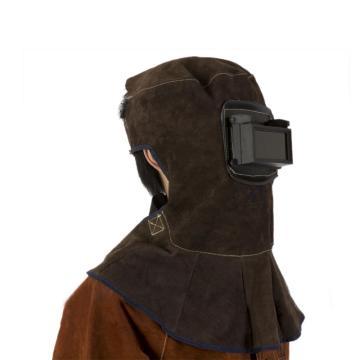 友盟 焊接头罩,AP-3001,碳啡色牛皮电焊头罩 39CM高 周长50CM