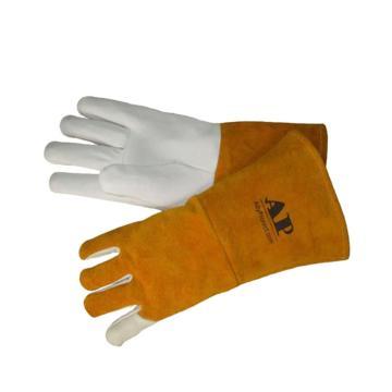 上等羊青长袖筒TIG手套,尺码:L